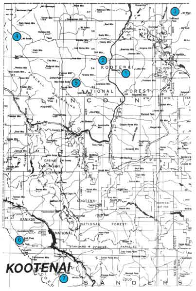 Forest Fire Map Montana.Kootenai National Forest Lookouts Cabins