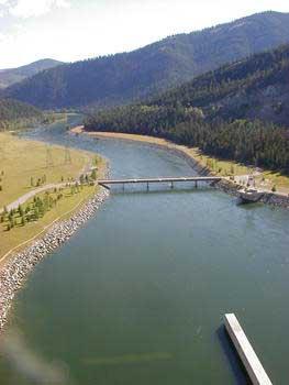 Libby Dam on Lake Koocanusa, Libby, Montana