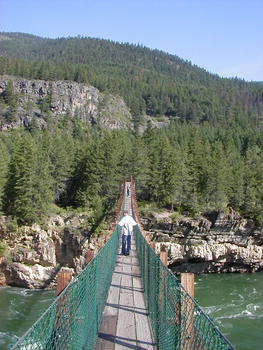 What here pics of swinging bridge in montana thought