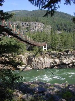 Swinging Bridge In Montana