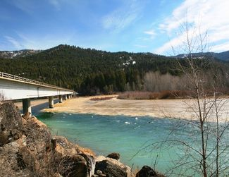 Fisher River meeting the Kootenai on Monday, March 20
