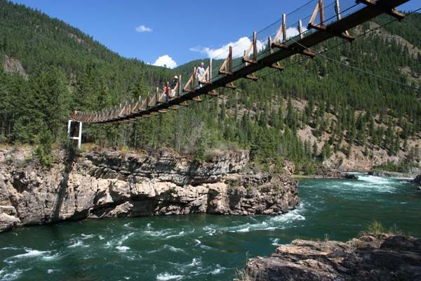 Pics of swinging bridge in montana congratulate