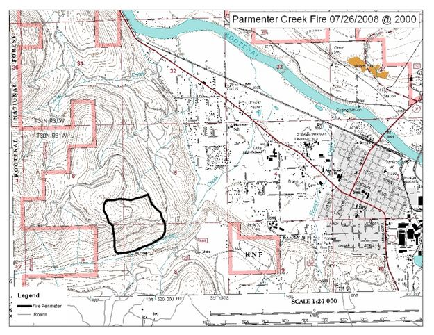 Parmenter Fire Map  Libby News Montana