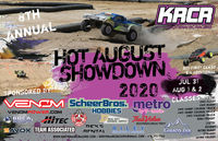 Hot August Showdown July 31-Aug 2 in Libby, sponsored by the Kootenai RC Racers.